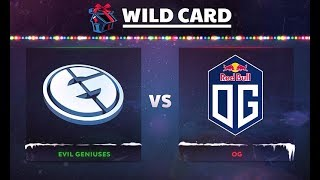 Evil Geniuses vs OG Game 2 - DOTA Summit 8: Wild Card Semifinals - @Kacor @Bulba @BSJ @Patos