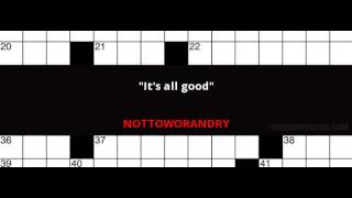 New York Times Crossword Solutions, September 4th 2016