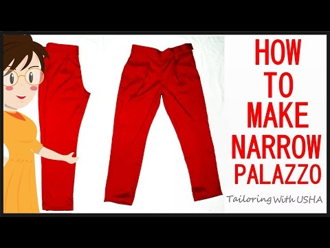 How To Make Narrow Palazzo | Cutting And Stitching | DIY - Tailoring With Usha