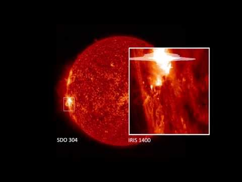 NASA's IRIS Mission Spots Its Largest Solar Flare