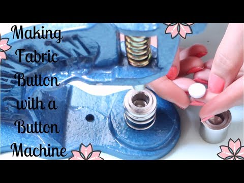 DIY How To Make a Fabric Button with a Button Machine Video