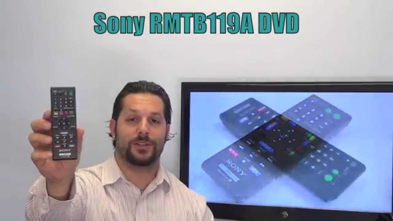 SONY RMTB119A DVD Player Remote Control - www ReplacementRemotes com