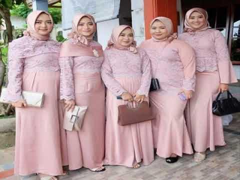 35 Model Baju Kondangan Simple Hijab Remaja - YouTube