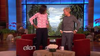 Can Ellen Do More Push-Ups Than Michelle Obama?
