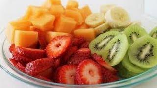 How to correctly slice fruit