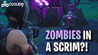 Hysteria | Fortnitemares - Zombies in a Scrim?!  - Fortnite Battle Royal Scrim Duos with C9Blind