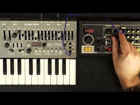 Roland Boutique Tip: 808+101 -- TR-08 trigger output sequencing SH-01A