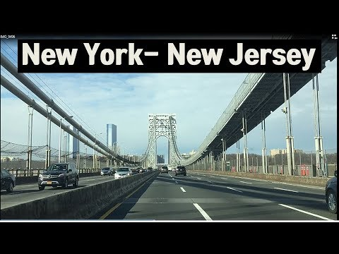 Driving On The Road - New York To New Jersey