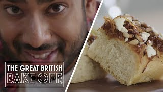 How to make Onion and Feta Focaccia - Bread Recipe  The Great British Bake Off  S10