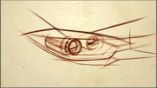 How to Draw Cars: Dynamic Car Sketching - Drawing Headlamps
