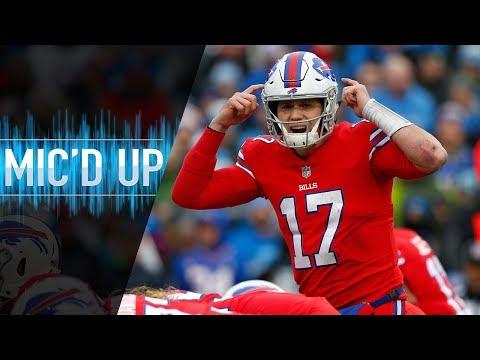 """Josh Allen Mic'd Up vs. Lions """"C'mon, let's go!""""   NFL Films"""