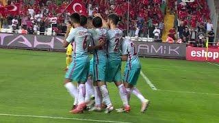 Türkiye 1 Karadağ 0 Gol Mehmet Topal atv
