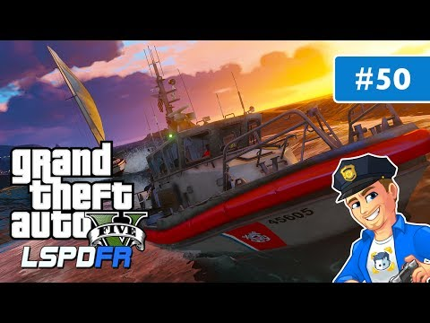 GTA 5 LSPDFR Coastal Callouts Mod RBM Boat | Day 50 | GTA 5 US Coast Guard Real Life Police Patrol