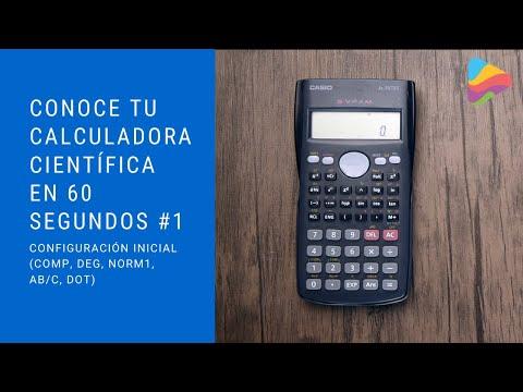 Conoce tu calculadora científica en 60 segundos: Configuración inicial (COMP, Deg, Norm1, ab/c, Dot)