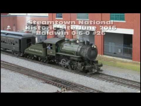 Steamtown National Historic Site with Baldwin 0-6-0 #26, June 2016