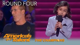 LEAK: 7-Year-Old Comedian JJ Pantano ROASTS Simon Cowell on @America's Got Talent Champions LOL!!