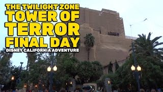 Twilight Zone Tower of Terror FINAL DAY lines, crowds, and gift shop at Disney California Adventure