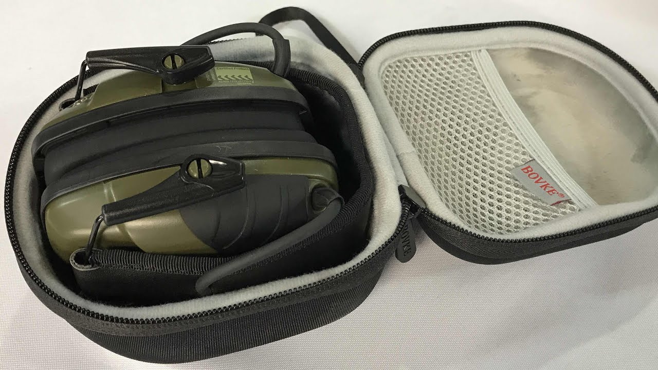 BOVKE Shockproof Hard Carrying Case Travel Bag for Howard Leight Impact Sport Sound Earmuffs review