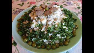 """Салат """"Бюджетный"""" с куриными желудками и грибами  - Очень Вкусно, Просто и Недорого!"""