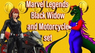 Marvel Legends Black Widow and Motorcycle set Review