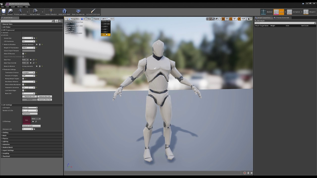 Using the Skeletal Mesh Reduction Tool | Unreal Engine