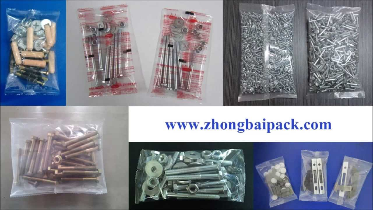 Automatic Hardware Packing Machine For Screw Bolt Nut Or