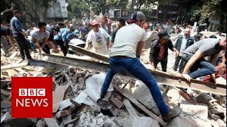 Mexico  Earthquake topples buildings killing nearly 250   BBC News
