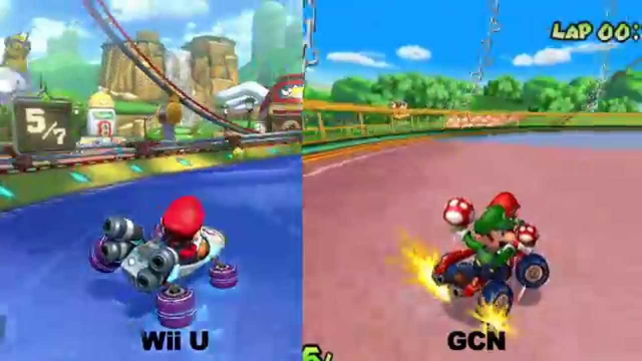 Mario Kart 8 Baby Park Wii U Vs Gcn Vs Ds Youtube