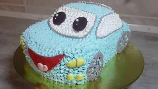 Торт Машинка из крема | Как собрать и украсить торт машинка из круглого бисквита