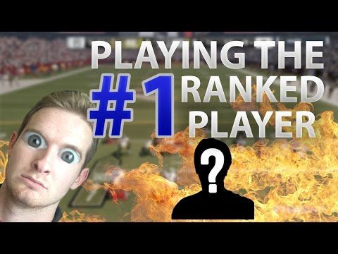 PLAYING THE #1 PLAYER IN THE WORLD | CLOSEST GAME IVE EVER PLAYED | Madden 17 Ranked