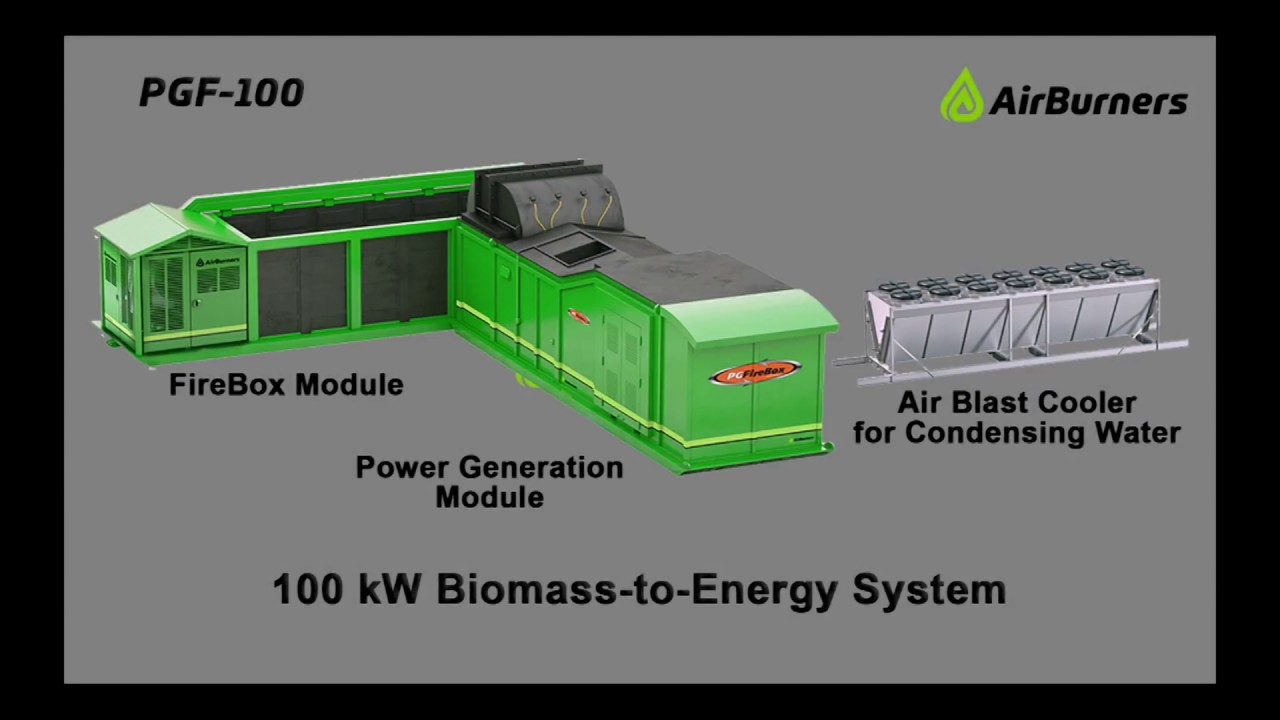pg firebox woody biomass to electric energy 100kw to 1mw