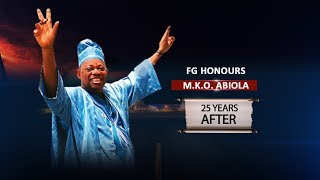 25 Years After, Buhari Confers GCFR Title On MKO Abiola Pt.1