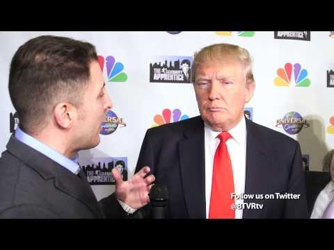 "Donald Trump at the ""Celebrity Apprentice"" Season 7 Finale with BTVRtv"