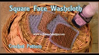 Square Face Washcloth Crochet Pattern #crochet #crochetvid