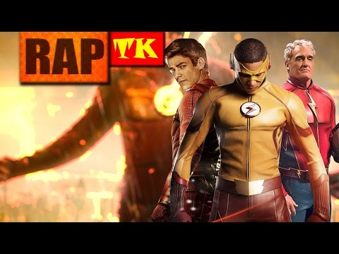 Rap dos Velocistas #1(The Flash) // Flash, Kid Flash e Jay Garrick // Ft. DKZOOM e Raplay // TK RAPS