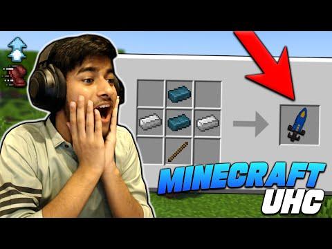 Minecraft UHC But We Can Craft My Custom OP Sword! [Hindi]