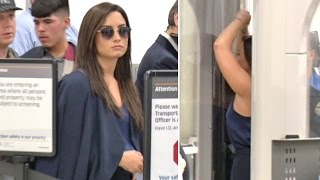 Demi Lovato Looking Chic In Satin At LAX Amid New Romance With Luke Rockhold