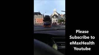 Wall Street! 3 Trucks Stacked with Tesla Model 3s in Copenhagen