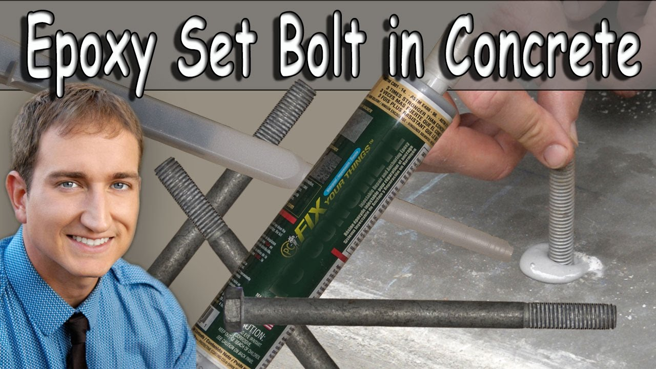 How I Epoxy (Glue) Anchor Bolts Into Concrete, Video #4 New Room Addition