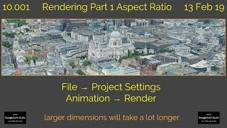 Rendering Part 1 Aspect Ratio 10.001 Learn Google Earth Studio