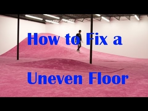 P3  How to Level uneven Floors  Cabin  Home Repair