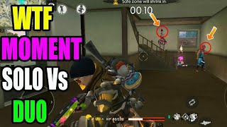 WTF moment|| solo va duo rank match|| Free fire tricks and tips||Run Gaming