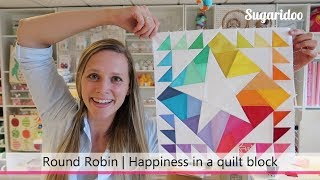 How to design a rainbow quilt block | Round Robin part 2