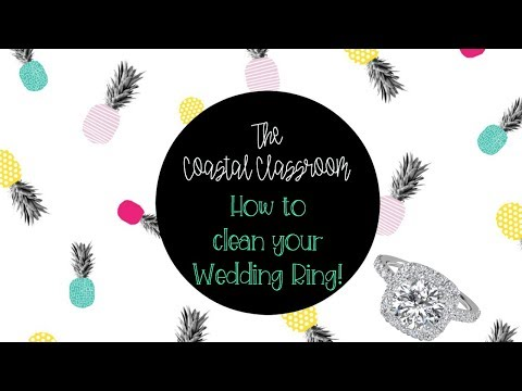 How to clean your wedding ring!