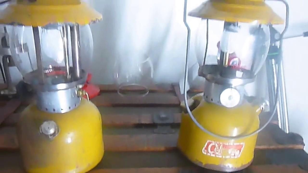 Working Coleman Gold Bond 200A Lanterns