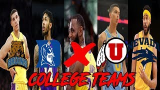 Can You Name The NBA Starting 5 By COLLEGE?