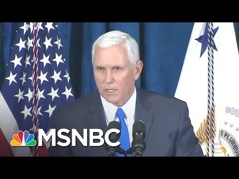 Woman Tells Vice President Pence To See More Than Donald Trump In Puerto Rico | Morning Joe | MSNBC