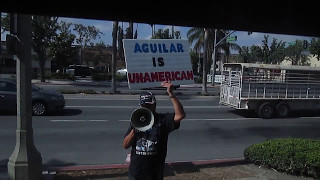 Rep Pete Aguilar BANS Trump Supporter From Coffee so HE PROTESTED THE COFFEE!