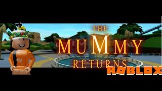 Trying out the new mummy's revenge. (Roblox universal studios)-Roblox.
