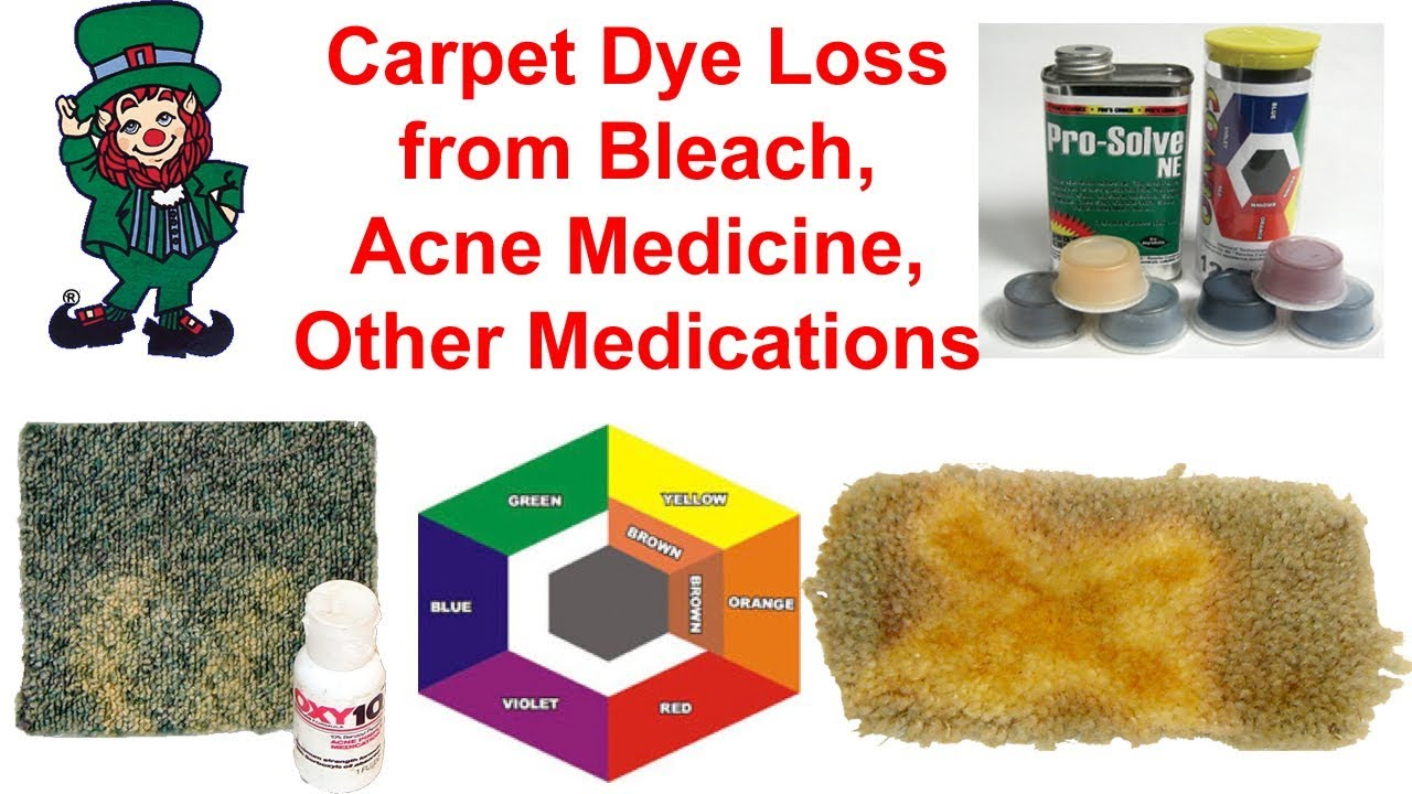 how to fix bleach stains from carpet